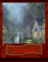Tạo hình : Vẽ mưa