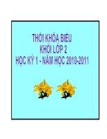 TKB KHỐI LỚP 2 - HK I - NH 2010-2011