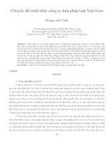 Chuyển đổi hình thức công ty theo pháp luật Việt Nam