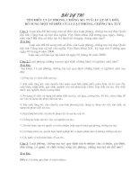 Bài dự thi tìm hiểu luật PC Ma túy và sửa đổi bổ sung