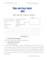 Báo cáo thực hành - ĐIỀU CHẾ  β - NAPTYL AXETAT