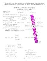 Tuyển tập Bất phương trình vô tỉ luyện thi đại học - 2009