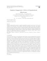 Employee Engagement: A Driver of Organizational Effectiveness