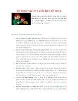 10 mẹo hay cho việc học từ vựng