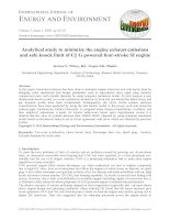 Analytical study to minimize the engine exhaust emissions and safe knock limit of CNG powered four-stroke SI engine