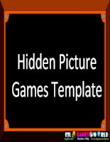 Hidden Picture Games Template easy version