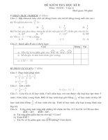 Hai đề kiểm tra HKII toán lớp 6