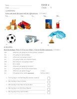 Test 4 - English 6 - Nguyễn Đình Chiểu- Nha trang