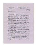 Đề thi sinh chuyên đại học sư phạm Hà Nội lần thứ 4 năm 2012