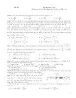Đề thi môn: Vật lí (Dành cho thí sinh Ban Khoa học Xã hội và Nhân văn)