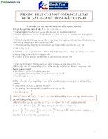Phương pháp giải bài toán khảo sát hàm số trong đề thi đại học có đáp án