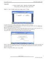 Cách trộn thư trong Word 2003