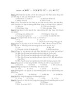 50 Câu TNKQ Hóa 8 Chương I năm 07-08 có đáp án