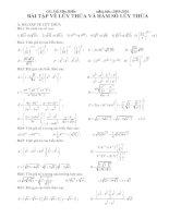 Bài tập về lũy thừa và hàm số lũy thừa