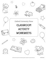 Oxford University Press - Classroom activities worksheets