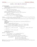 Vấn đề 2: Cực trị của hàm số