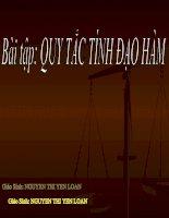 BAI TAP QUY TAC TINH DAO HAM