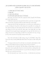 QUAN ĐIỂM TIẾP CẬN ĐÁNH GIÁ HIỆU QUẢ CỦA MỘT MÔ HÌNH PHÂN LOẠI RÁC TẠI NGUỒN