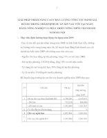 GIẢI PHÁP NHẰM NÂNG CAO CHẤT LƯỢNG CÔNG TÁC ĐÁNH GIÁ RỦI RO TRONG THẨM ĐỊNH DỰ ÁN XIN VAY VỐN TẠI NGÂN HÀNG NÔNG NGHIỆP VÀ PHÁT TRIỂN NÔNG THÔN CHI NHÁNH NAM HÀ NỘI
