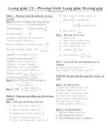 Các phương trình lượng giác thường gặp ( rất hay)