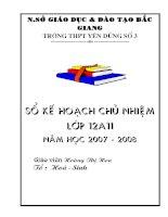 Kế hoạch chủ nhiệm lớp 10 11 12