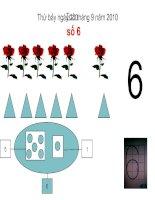 toán 1 Tiết 16 : Số 6