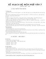 Kê hoach giảng dạy ngữ văn 7