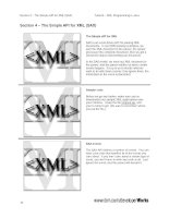 The Simple API for XML (SAX)