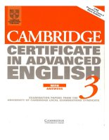 Cambridge certificate in advanced english 3