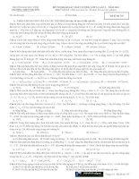 ĐỀ THI KHẢO SÁT CHẤT LƯỢNG LỚP 12 LẦN I NĂM 2012 MÔN VẬT LÝ TRƯỜNG THPT CHUYÊN  ĐẠI HỌC VINH