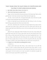 THỰC TRẠNG CÔNG TÁC HẠCH TOÁN LƯU CHUYỂN HÀNG HOÁ TẠI CÔNG TY PHÁT HÀNH SÁCH HẢI PHÒNG