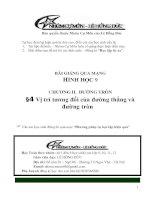 (Hình học 9 - Chường II: Đường tròn) Bài giảng: Vị trí tương đối của đường thẳng và đường tròn