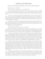 DIỄN VĂN KHAI GIẢNG NĂM HỌC 2010-2011 CỦA HIỆU TRƯỞNG TRƯỜNG THCS ĐÔNG PHÚ