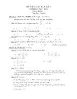 Đề thi học kỳ  1 Toán 7 ( Đề 2)