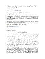 GIỚI THIỆU KIẾN THỨC MỸ THUẬT VIỆT NAM THỜI TRẦN