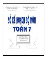 ke hoach giang day toan 7