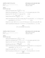 Đề Thi Toán 10HKII, năm học 08-09