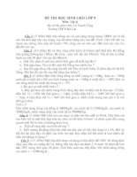 ĐỀ THI HSG VẬT LÍ 9 (Đề 05)