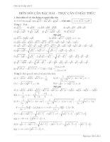 Chuyên đề căn bậc 2,3