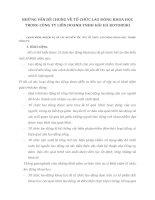NHỮNG VẤN ĐỀ CHUNG VỀ TỔ CHỨC LAO ĐÔNG KHOA HỌC TRONG CÔNG TY LIÊN DOANH TNHH HẢI HÀ KOTOBUKI