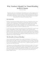 Why Teachers Should Use Timed Reading in ESL Classes