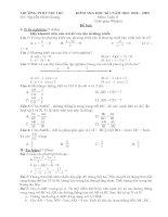 đề thi  và đáp án toán 8 học kì 2