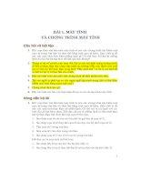 Câu hỏi và bài tập của SGK Tin học 8