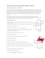 Một số cách chứng minh định lý Pitago