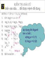 phương trình mu và logarit