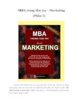 MBA trong tầm tay - Marketing (phần 1)