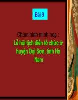 Bài 9 - Chùm hình ảnh minh hoạ - Lễ hội Tịch điền ở huyện Đọi Sơn, tỉnh Hà Nam