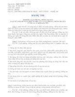 Bài dự thi tìm hiểu về ma tuý
