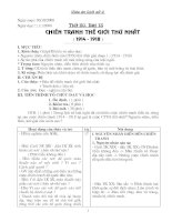 Giáo án lịch sử 8 - Kì II