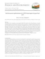 Performance optimization of a PEM hydrogen-oxygen fuel cell